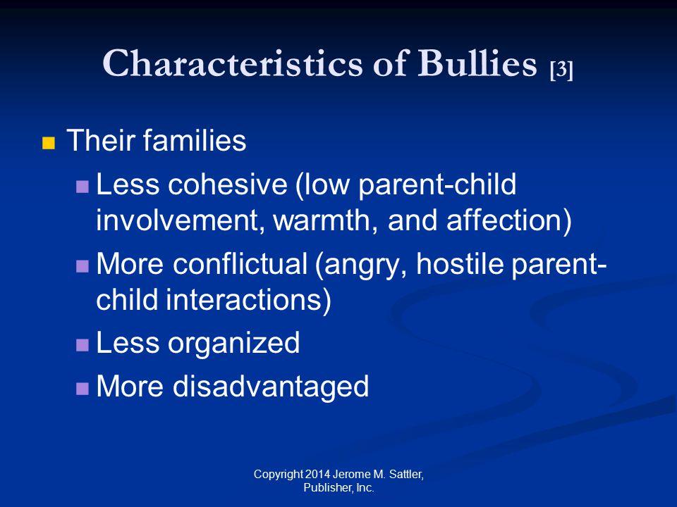 Characteristics of Bullies [3]